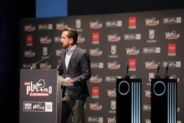 Raúl Berdonés, durante su intervención en la presentación de Iberseries Platino Industria y Premios Platino
